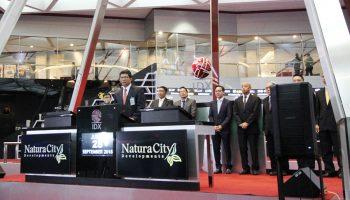 Debut Saham Natura City di BEI